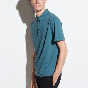 """VINCE NWT Men's Polo """"Verdigris"""" Polo Shirt"""